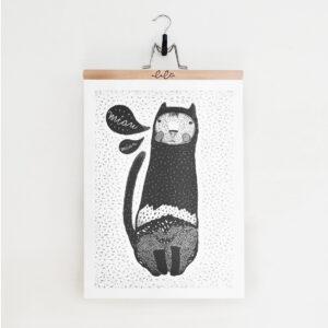 Kocur Miau / plakat 50 x 70cm