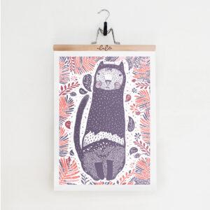 Kocur Barwny / plakat 50 x 70cm