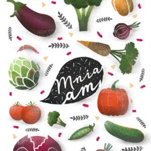 alalea plakat warzywa mniam